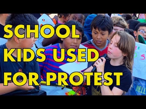 OUT OF SCHOOL INTO PROTEST: Schools Use Kids To Push Leftist Politics.