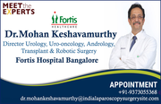 Dr. Mohan Keshavamurthy A face to Advanced Urology Treatments in India