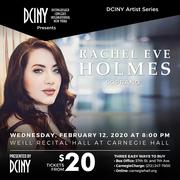 Rachel Eve Holmes, Soprano Carnegie Hall