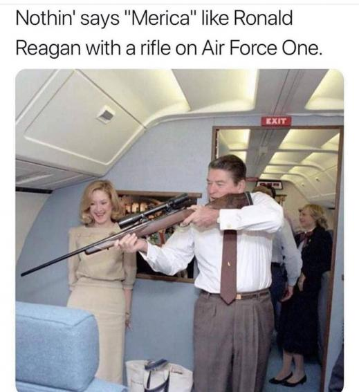 Reagan on Air Force One