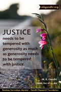 Thought For The Day ( JUSTICE )