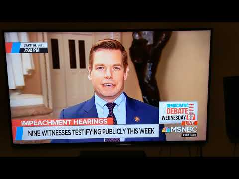 Eric Swalwell appears to fart on live TV.