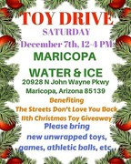 Toy Drive for The streets don't love you back organization at water and ice December 7