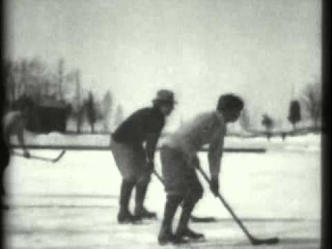 1898 hockey match on ice thomas edison