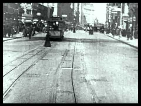 Trolley Ride Through New York City Early 1900s