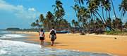Baga Beach Goa Couple Walk Wallpaper