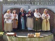 The Singing Milkmaids are Bonnie Kretschmer, Jenny Schwegmann, Jessie Northridge, Rachel Westheimer, Rachel Nestle and Sarah Joseph 2