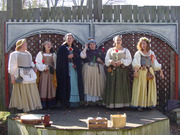 The Singing Milkmaids are Bonnie Kretschmer, Jenny Schwegmann, Jessie Northridge, Rachel Westheimer, Rachel Nestle and Sarah Joseph