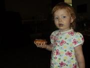 Samara likes donuts!
