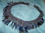 Peacock Bead Fringe Necklace.
