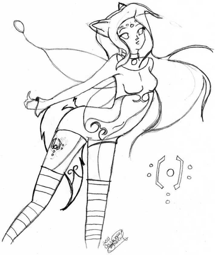 Fairy with Fox ears and tail
