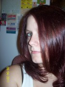 Me with Burgandy long hair