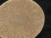 Close up of intricate etch