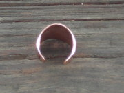 back shot of copper adjustable ring