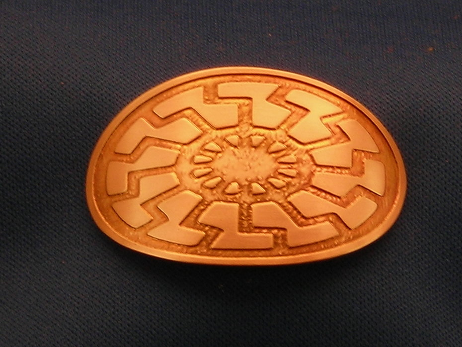Negative Etched Sun Wheel