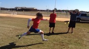 High School Soccer Player Kat demonstrates good form as she completes the rope drill