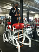 Resisted Glute-ham raise w/ bands