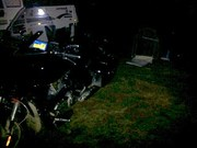 Camping Rolleston 5th July 2013 in swag 9deg C & dropping
