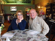 Senator Saland and his wife Linda at the Cup and Saucer Restaurant and Tea Room