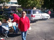 Tailgating at a UW Badger game and how I looked before the cancer diagnosis.