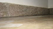 Carved concrete counter surround
