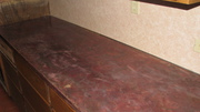 Laminate counter with skimcoat