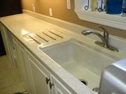 Utility counter, backsplash and sink