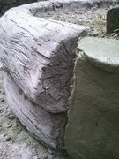 My first concrete log