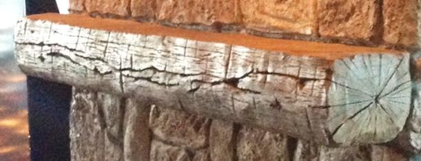 carved mantel