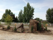 Progress pics of boulder work for a residencial landscape project.