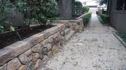 rock  carved  wall   Dallas Texas