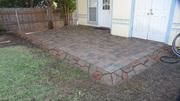 Stone  edge  for  Brick paver  patio  Fort Worth  Texas
