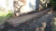 artificial  rock stone   edge  brick paver  walway Fort Worth  Texas