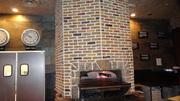 Brick  fire place   rock  carved  concrete Dallas  fort worth