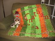 Nathan's Christmas Quilt & Sock Monkey 2009