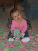 Granddaughter with Taggie Blankie