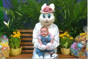 CJ's First Easter Bunny Pic