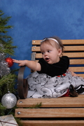 Leticia's First Christmas 8 mo's old.