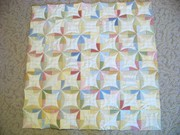Orange Peel flannel baby quilt Front