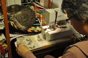 Sewing with a friend