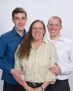 Me and my two boys, Kyle and Corey