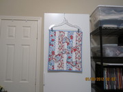 Red & Blue Hearts Doll Quilt