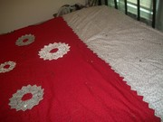 red white and black quilt 001