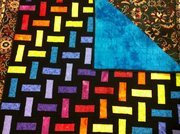 Rainbow Stairstep Quilt W/ back