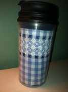 gingham cup
