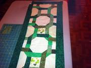 celtic chain table runner what it will look like with frame