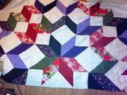 Quilting Carpenters Star almost done