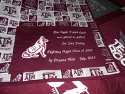 Label on Aggie T-shirt quilt