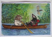 Rat takes Mole for a boat ride