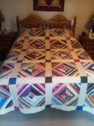 Mom's Scraps I - Quilt of Many Colors